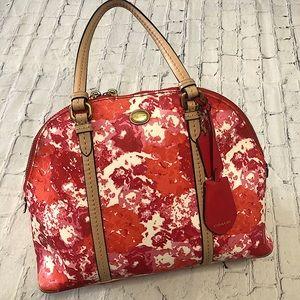 Coach Rare Cora F31341 Peyton Floral Domed Satchel